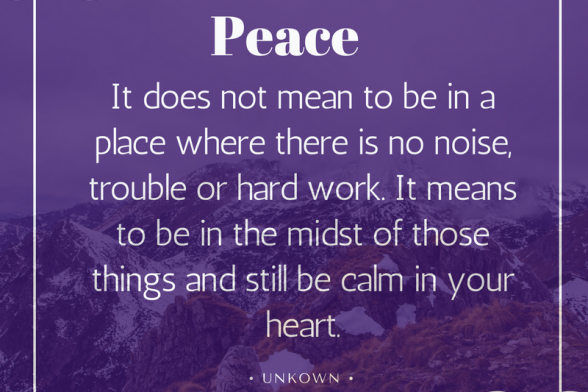 How to Practice Inner Peace