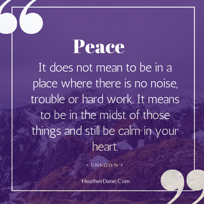 Here's an exercise that really helped me learn to create inner peace in the midst of chaos. I learned it from meditation expert, Susan Piver.