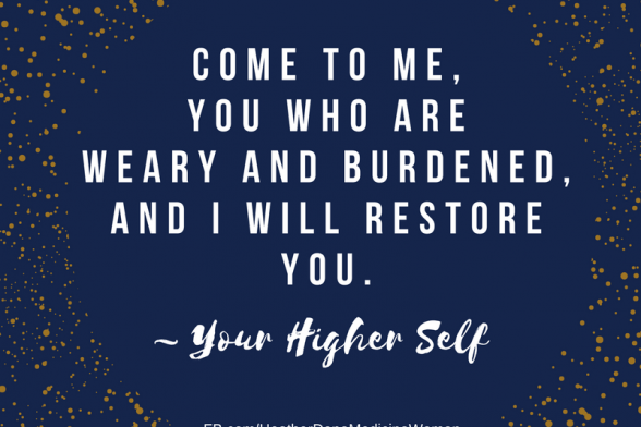 Focus on Restoring Yourself