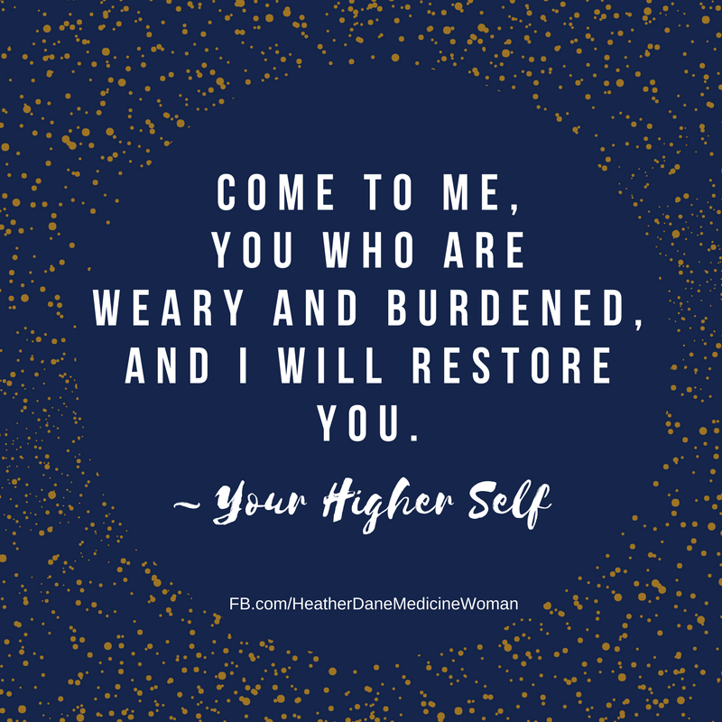 If you feel fatigued, anxious, alone, or overwhelmed, ask yourself: When was the last time I just stopped...and focused on restoring myself?