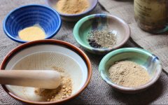 Eating something bitter with meals is a tried-and-true way to strengthen and support digestion. This recipe uses herbs and honey to form digestive pastilles