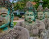 Cambodian statues in Siem Reap