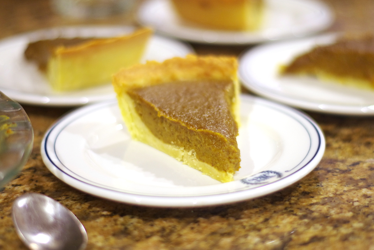 Slice of Healthy Pumpkin Pie