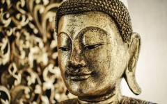 Louise Hay's Buddha Statue - photo by Joel Dauteuil