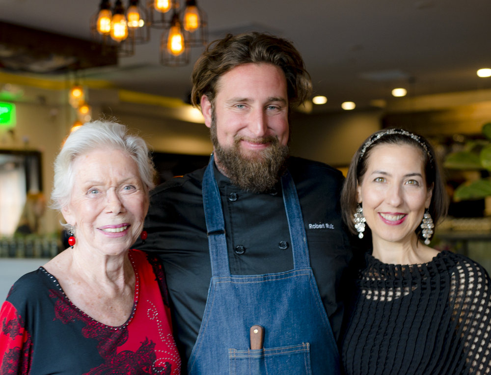 Louise Hay, Chef Rob Ruiz and Heather Dane