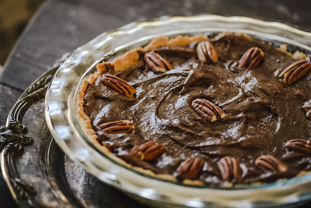 Vegan Chocolate Pecan Pie - Photo by Joel Dauteuil