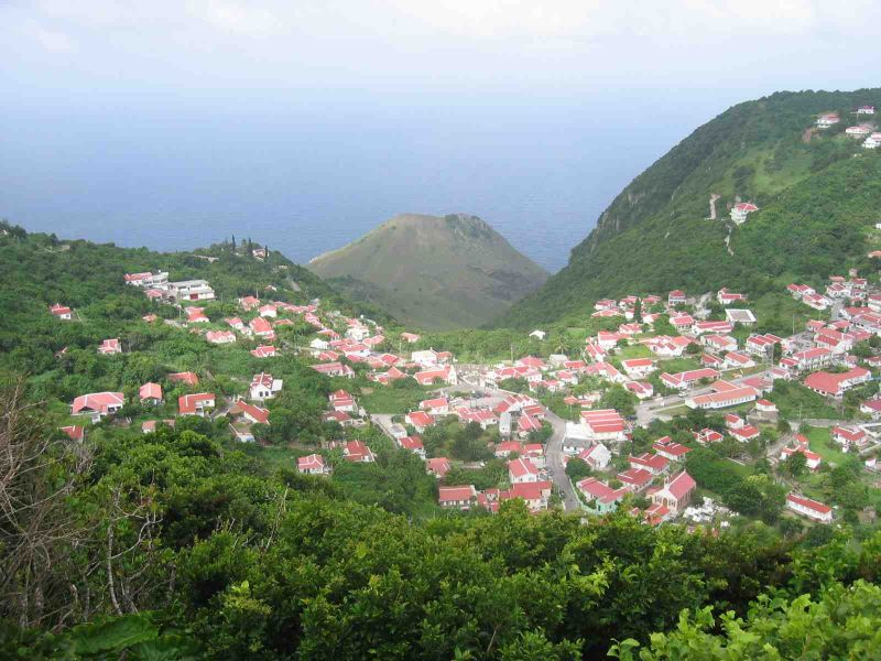 Windwardside Saba View from Mount Maskehorne