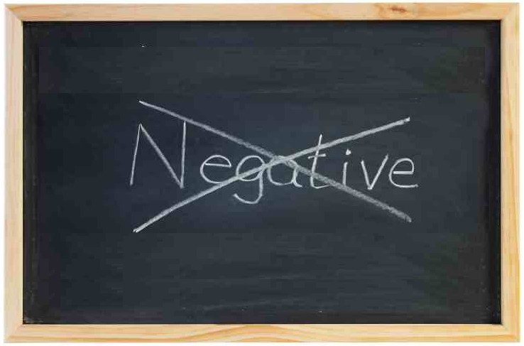 Blackboard with No Negative Thinking